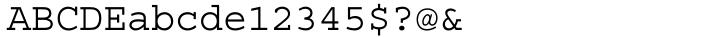Courier Font Sample