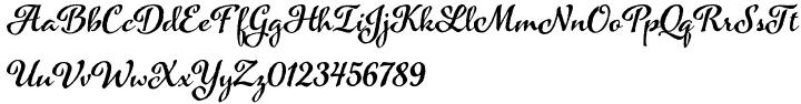 Azalea Rough Font Sample