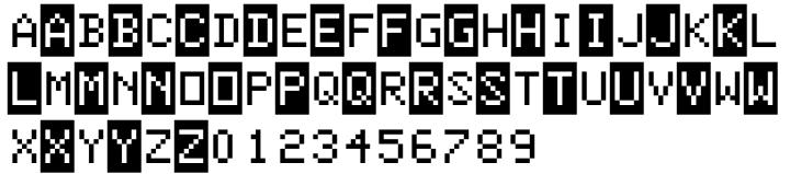 Color Basic™ Font Sample
