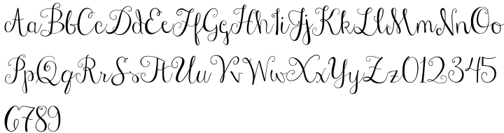Janda Stylish Script Font Sample