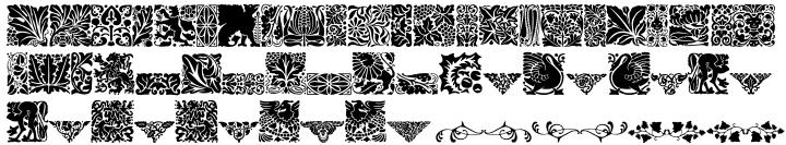Wayside Ornaments Font Sample