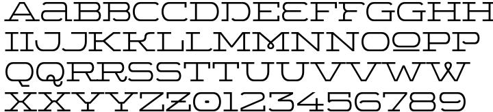 Wide Display™ Font Sample