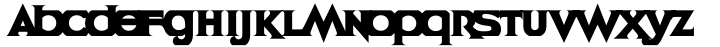 Cyclopentane Font Sample