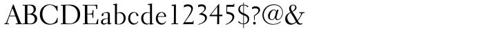 Electra® Font Sample