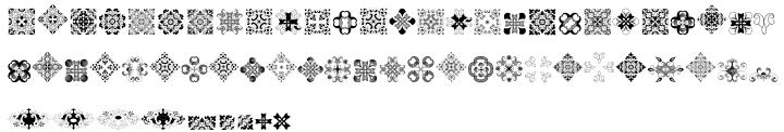 Derriey Vignettes Font Sample
