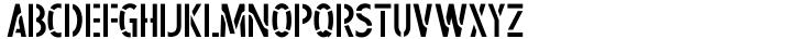 Steel Stencil JNL Font Sample