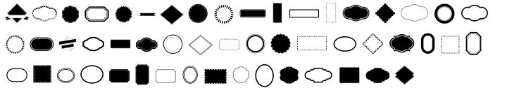 Retro Frames Font Sample