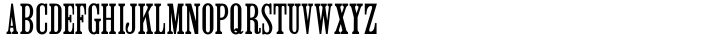 Roman Wood Type JNL Font Sample