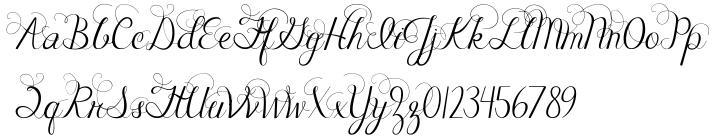 Janda Celebration Script Font Sample