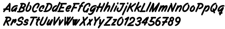 Filbert Brush™ Font Sample