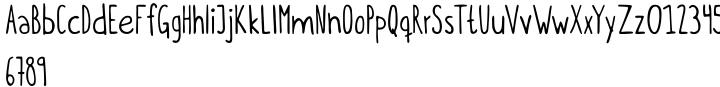 Itchy Handwriting Font Sample