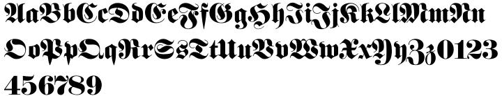 Fette Fraktur™ Font Sample