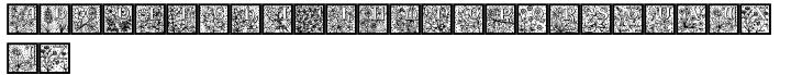 26 Flowers™ Font Sample