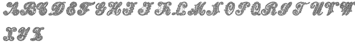 Letters And Lace™ Font Sample