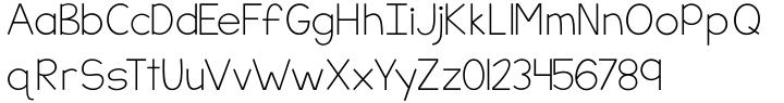 KG Part Of Me Font Sample