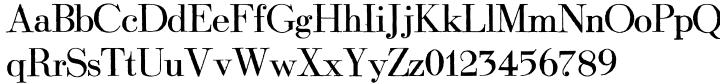 Modena Printed Font Sample