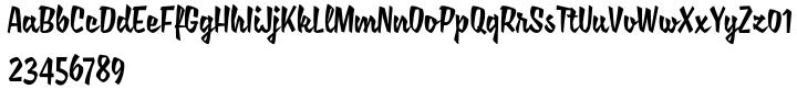 Saline Font Sample