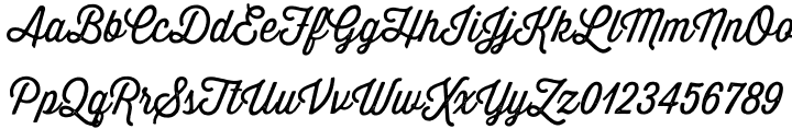 Thirsty Rough Font Sample