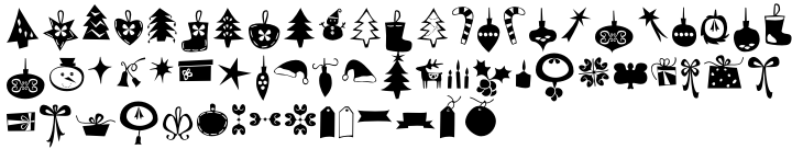 Dans Le Noël Font Sample