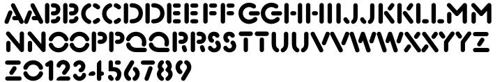 Xtencil Font Sample