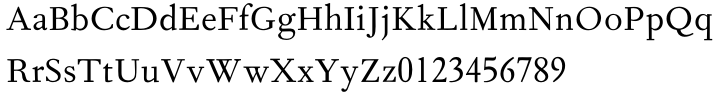 Fournier™ Font Sample