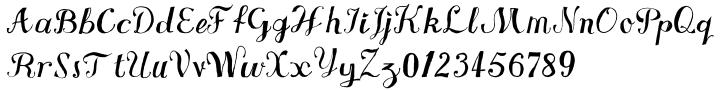 VTG Watson Steel Pen™ Font Sample