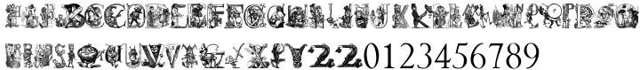 Cartoon Characters Volume 1™ Font Sample