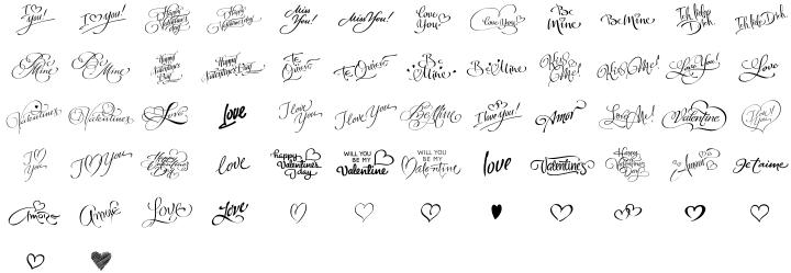 FM Valentines PRO Font Sample