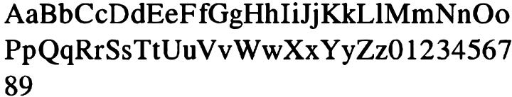 Seriffi Morgan Font Sample