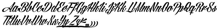 Angilla Tattoo Font Sample