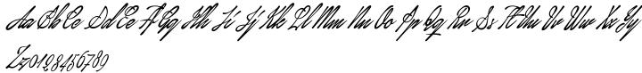 January Script Font Sample