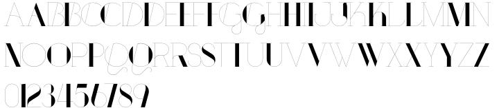Port Font Sample