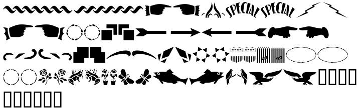 Stencil Extras JNL Font Sample