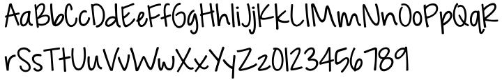 KG Feeling 22 Font Sample