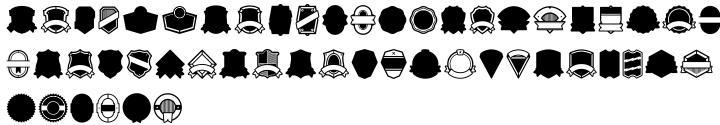 Vintage Badges Font Sample