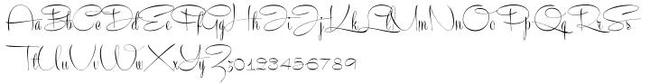 Recorda Script Font Sample