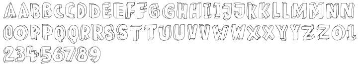 Meshuggeneh Font Sample