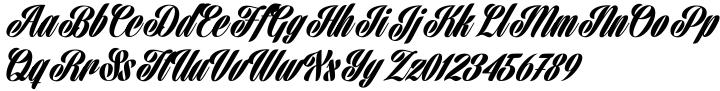 Harbell Font Sample