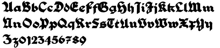 PiS LIETZ Parilon Font Sample