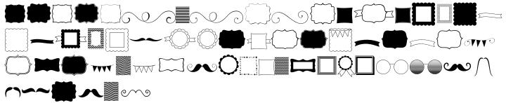 KG Flavor And Frames Font Sample