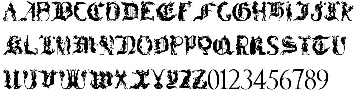 Devilish™ Font Sample