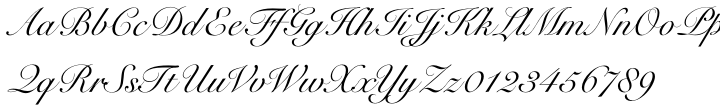 Roundhand BT Font Sample