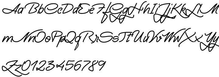Yma Font Sample