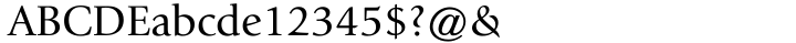 ITC Giovanni® Font Sample