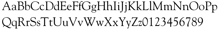 Goudy Oldstyle Font Sample