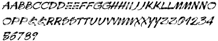 Sonica Brush Font Sample