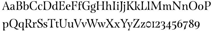 Esmeralda Pro Font Sample