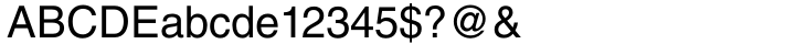 Helvetica® Font Sample
