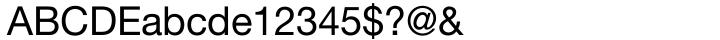Helvetica Neue LT Std® Font Sample