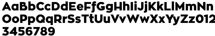 Zona Black Font Sample